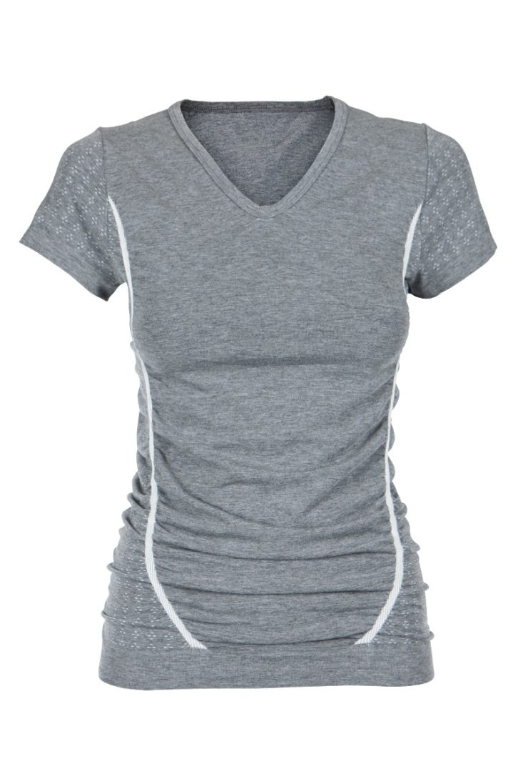 Bamboo Pregnancy T-Shirt - Grey Melange-0