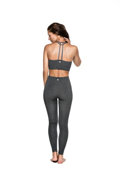 Bandha Bamboo Tights - Dark Grey Melange-2067