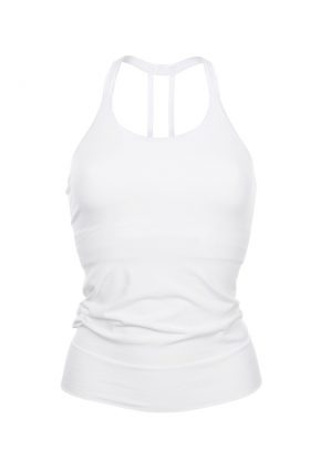 Bamboo T-String Top - Pure White-0