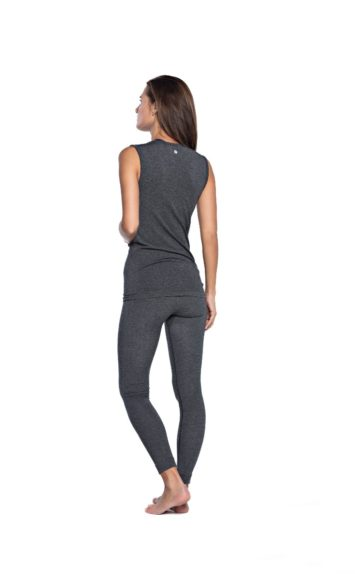 Basic Bamboo Tank - Dark Grey Melange-2364