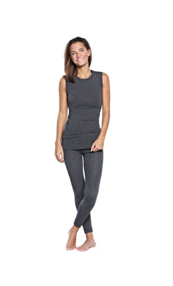 Basic Bamboo Tank - Dark Grey Melange-2363